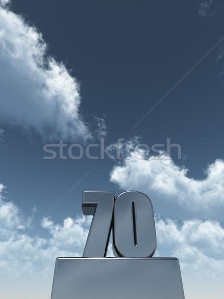 metal seventy Stock photo © drizzd