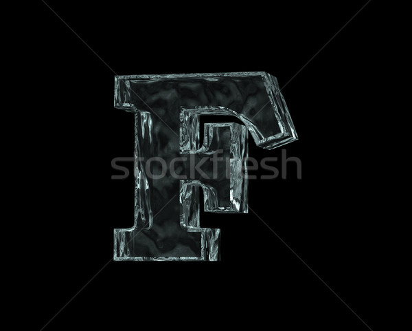 frozen letter F Stock photo © drizzd