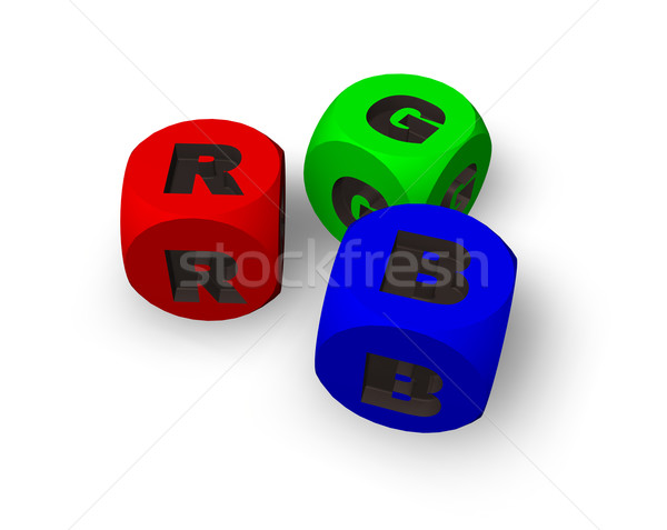rgb dices Stock photo © drizzd