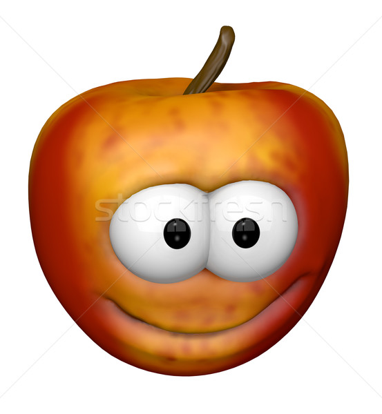 Funny manzana cara 3d feliz diversión Foto stock © drizzd