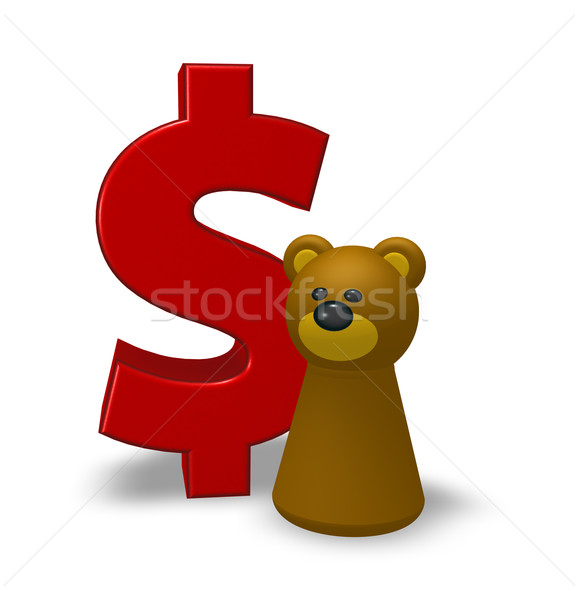 dollar and bear Stock photo © drizzd