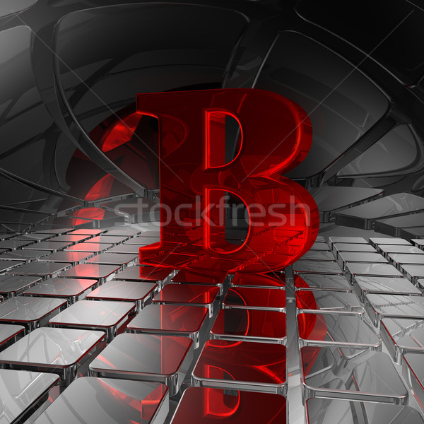 b in futuristic space Stock photo © drizzd