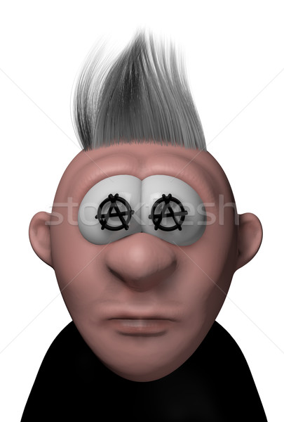 Punk cartoon vent anarchie symbolen 3d illustration Stockfoto © drizzd