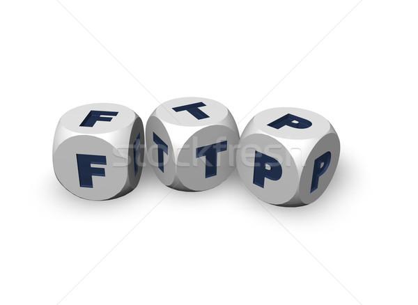 Ftp tres cartas 3d tecnología datos Foto stock © drizzd