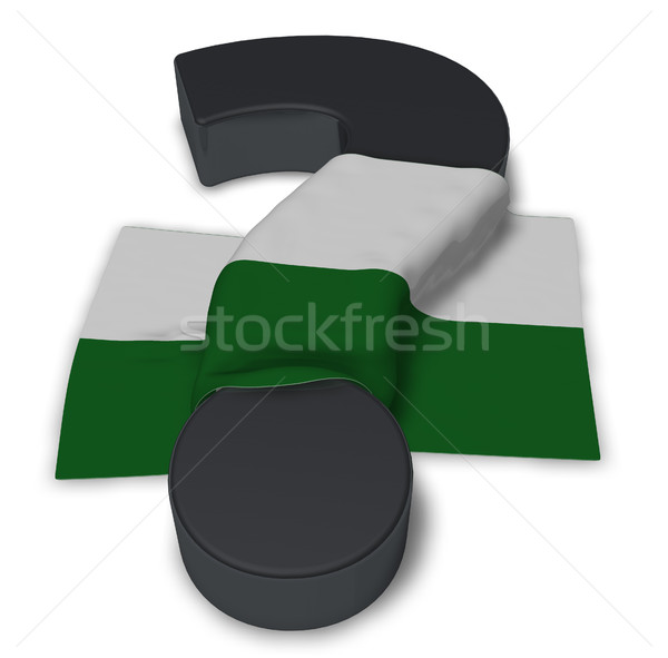 question mark and flag of saxony - 3d illustration Stock photo © drizzd