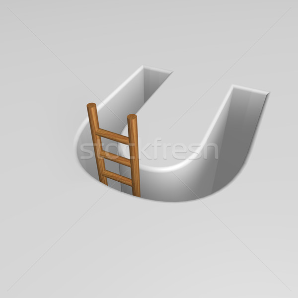 letter u and ladder Stock photo © drizzd