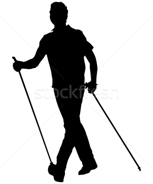 nordic walking Stock photo © drizzd