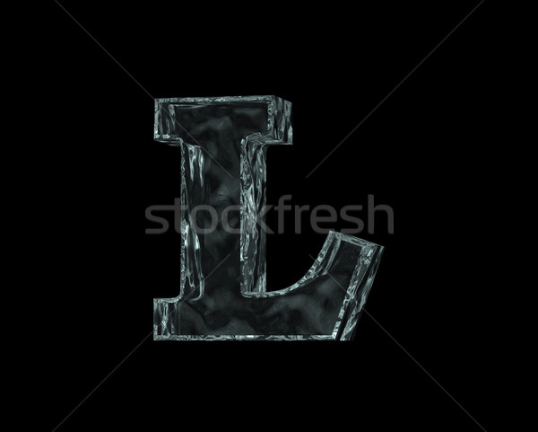 frozen letter L Stock photo © drizzd