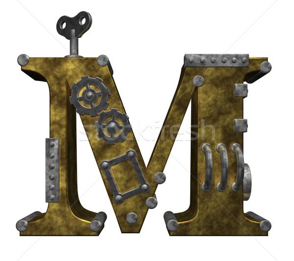 steampunk letter m Stock photo © drizzd