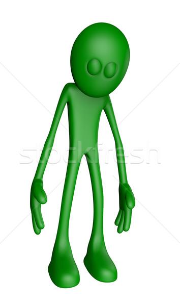 Tristezza triste verde ragazzo illustrazione 3d stress Foto d'archivio © drizzd
