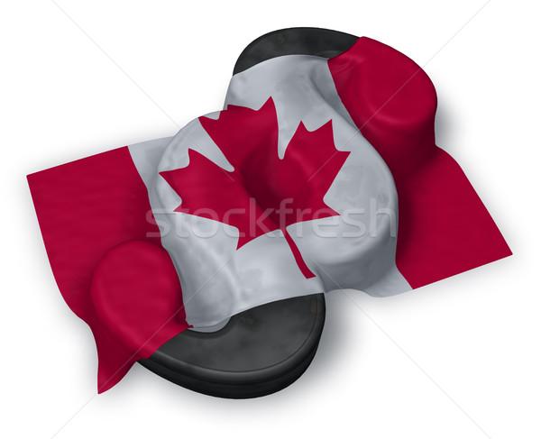 ストックフォト: カナダ · フラグ · 段落 · シンボル · 3次元の図 · 裁判所