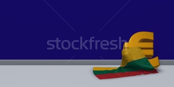 ユーロ シンボル フラグ リトアニア 3次元の図 金融 ストックフォト © drizzd