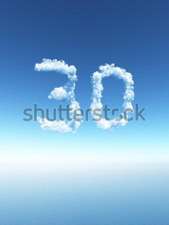 Сток-фото: облачный · буква · d · облака · небе · 3d · иллюстрации · природы