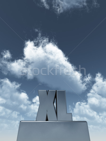 the letters XL  in front of blue sky - 3d illustration Stock photo © drizzd