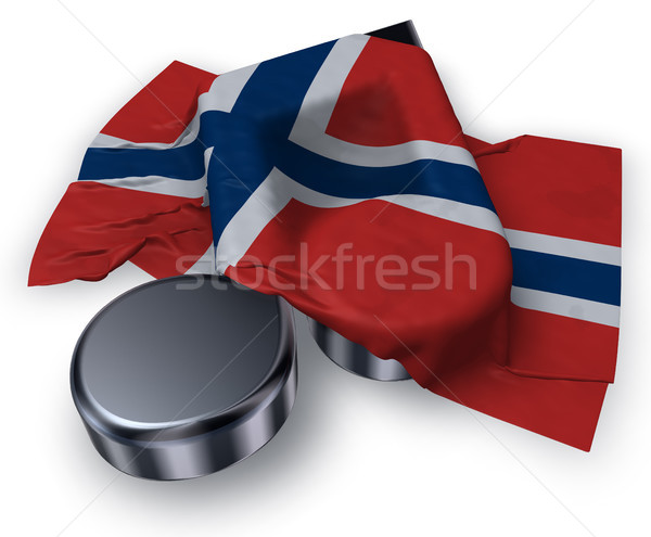 music note symbol and flag of norway - 3d rendering Stock photo © drizzd