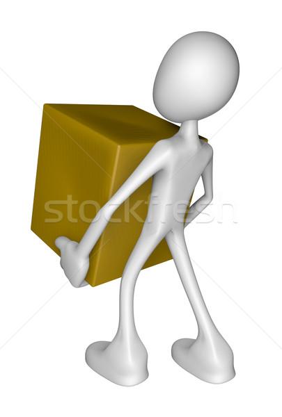 Serviço branco cara caixa  mail Foto stock © drizzd