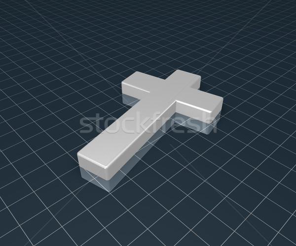 Cristão atravessar 3D símbolo jesus Foto stock © drizzd