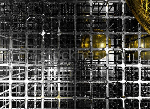 Abstrato futurista esfera ilustração 3d azulejos estilo Foto stock © drizzd