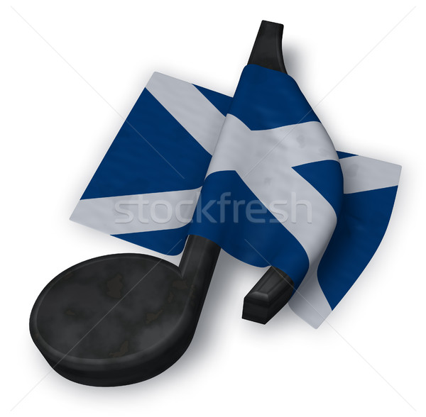 music note and scottish flag - 3d rendering Stock photo © drizzd