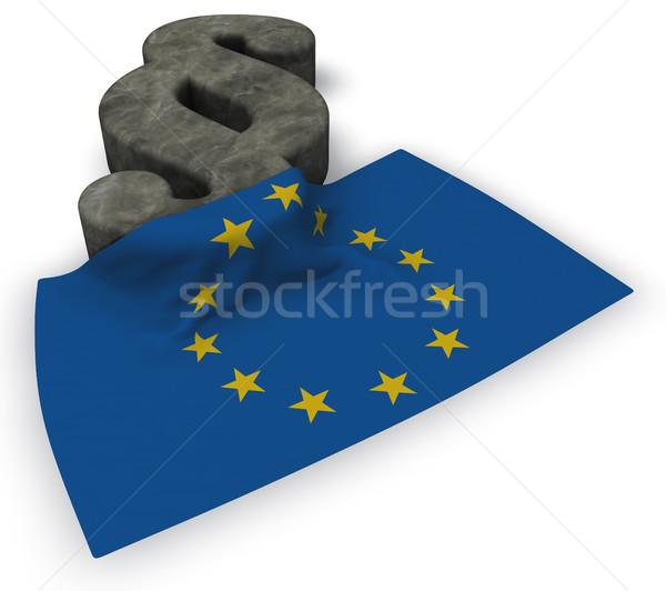 Parágrafo símbolo bandeira europeu união 3D Foto stock © drizzd