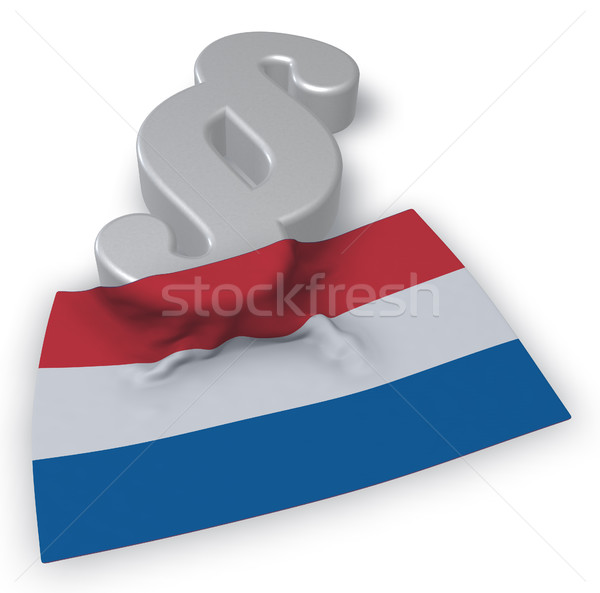 Absatz Symbol Flagge 3D-Darstellung Europa Stock foto © drizzd