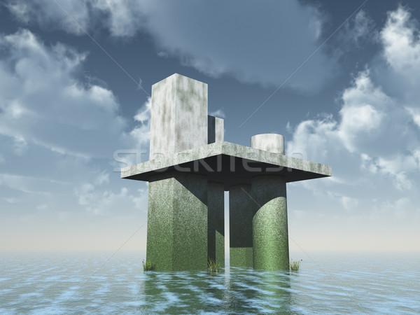 futuristic architecture Stock photo © drizzd