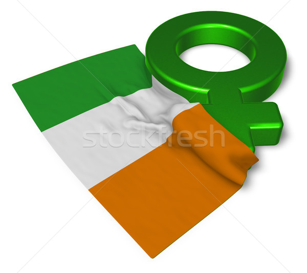 venus symbol and flag of ireland - 3d rendering Stock photo © drizzd