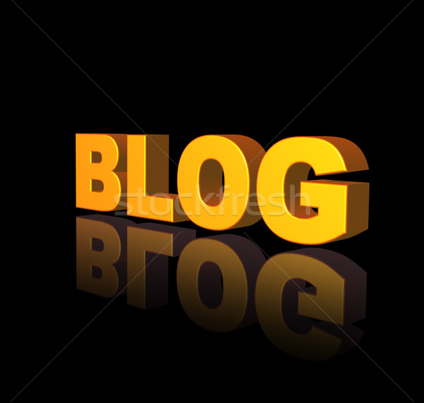 Blog or texte noir 3d illustration internet Photo stock © drizzd