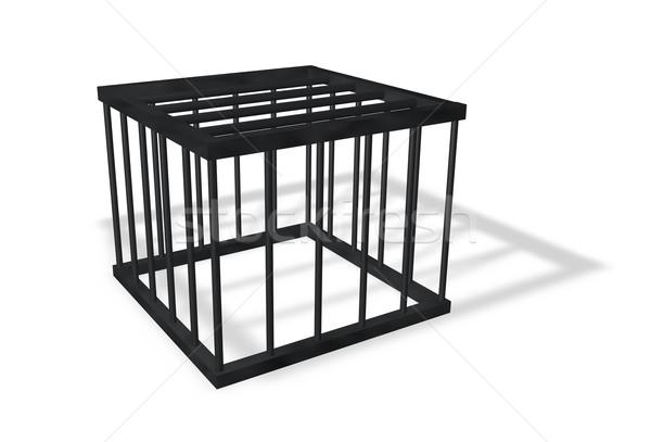 Ketrec fehér 3d illusztráció doboz igazság szabadság Stock fotó © drizzd