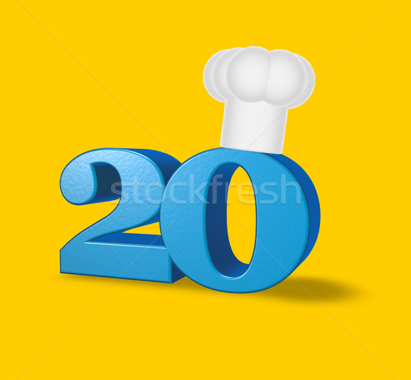 number twenty cook Stock photo © drizzd