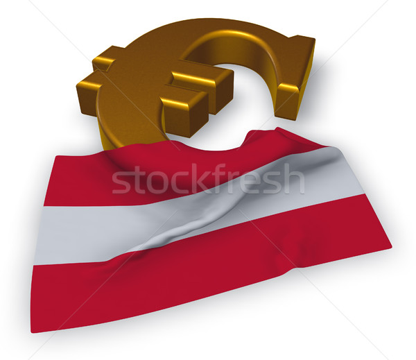 euro symbol and austrian flag - 3d illustration Stock photo © drizzd