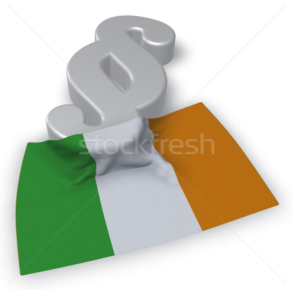 Paragraphe symbole irlandais pavillon 3d illustration Europe Photo stock © drizzd