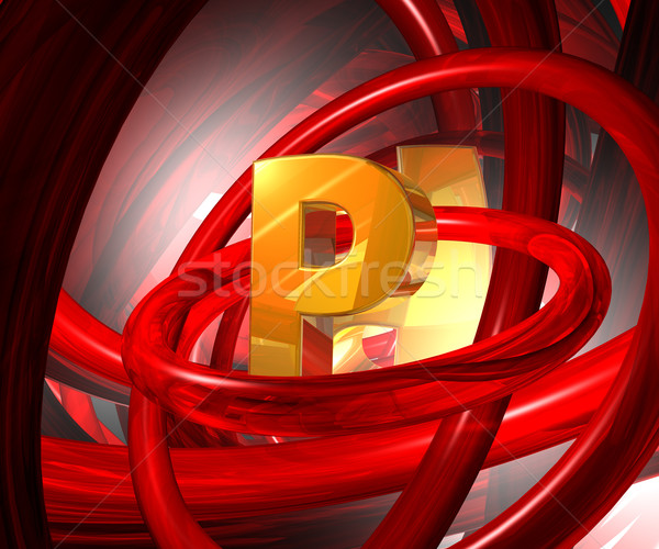 letter p in abstract space Stock photo © drizzd