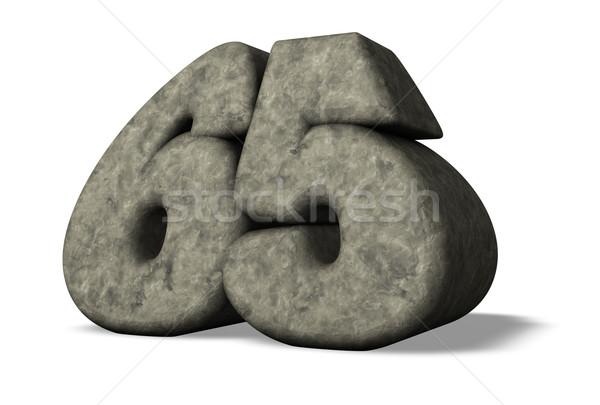 Aantal zestig vijf steen 3d illustration verjaardag Stockfoto © drizzd