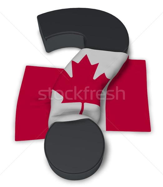 Ponto de interrogação bandeira Canadá ilustração 3d assinar ajudar Foto stock © drizzd
