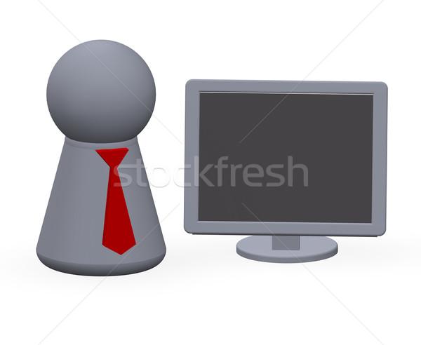 Online business spelen cijfer Rood Stockfoto © drizzd