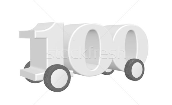 Uno cien carretera ruedas 3d Foto stock © drizzd