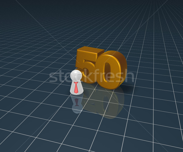 Numara elli oynamak anlamaya kravat 3d illustration Stok fotoğraf © drizzd
