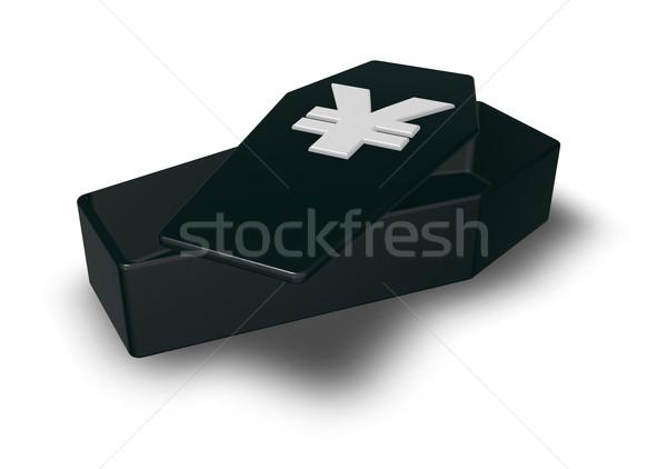 Jen trumna symbol biały 3d ilustracji ceny Zdjęcia stock © drizzd