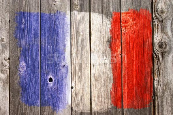 Fransa renkler eski ahşap yara Stok fotoğraf © drizzd