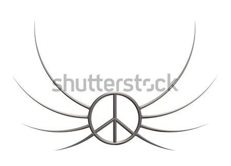 Szimbólum 3d illusztráció fém háború retro tiltakozás Stock fotó © drizzd