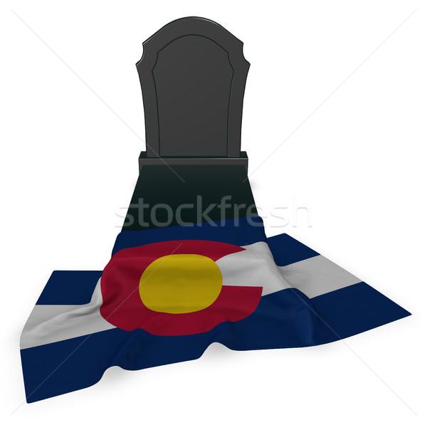 Lápide bandeira 3D morte pedra Foto stock © drizzd