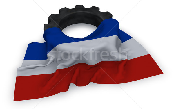 gear wheel and flag of schleswig-holstein Stock photo © drizzd