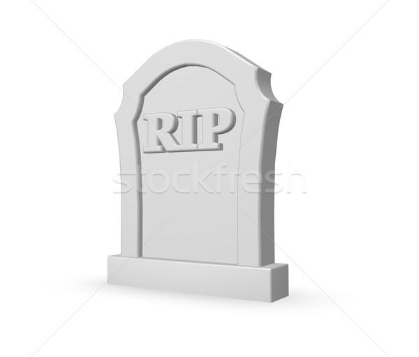 Lápide cartas branco ilustração 3d assinar morte Foto stock © drizzd