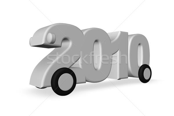 год 2010 Колеса белый 3d иллюстрации время Сток-фото © drizzd