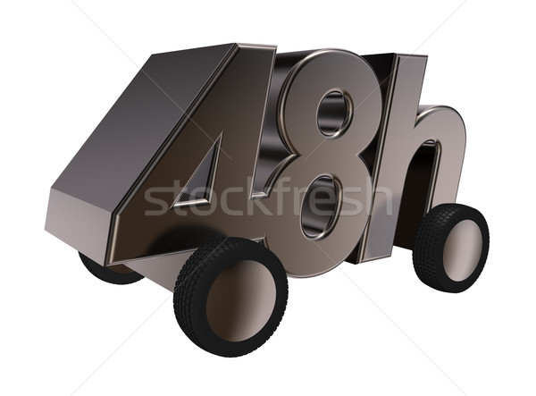 Сток-фото: доставки · Колеса · 3d · иллюстрации · бизнеса · время · службе