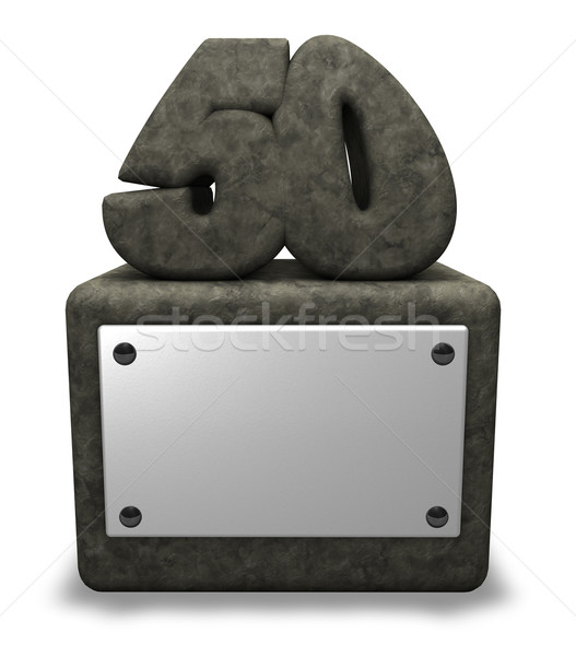 Сток-фото: числа · пятьдесят · каменные · гнездо · 3d · иллюстрации · летию