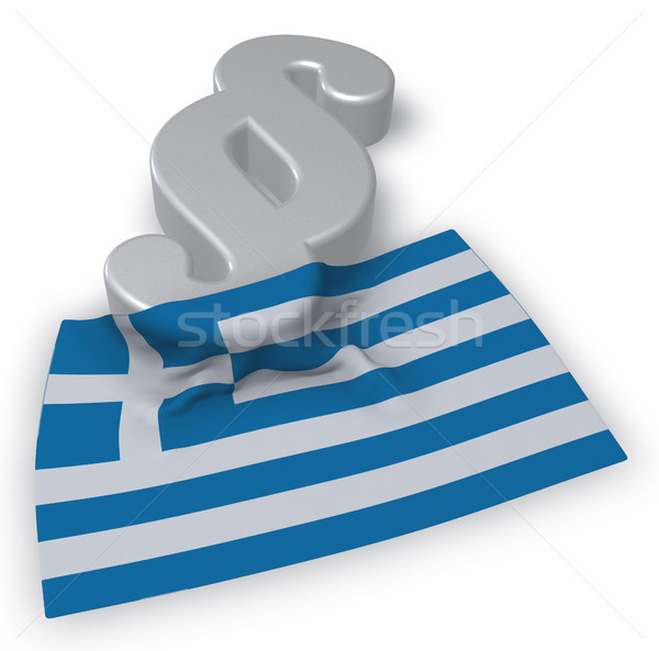 paragraph symbol and greek flag - 3d rendering Stock photo © drizzd