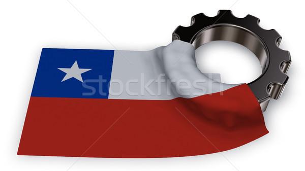 Attrezzi ruota bandiera Chile 3D Foto d'archivio © drizzd