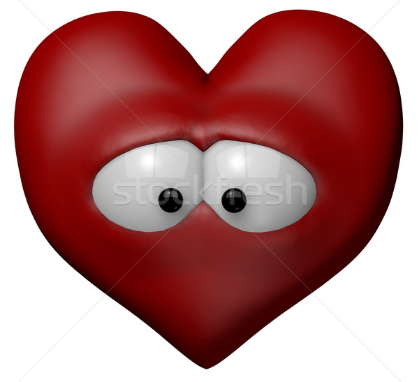 sad red heart Stock photo © drizzd
